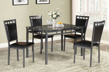 ELLEN FAUX MARBLE 5PC DINETTE SET