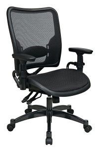 Dual Function Dark Air Grid® Seat and Back Managers Chair • Breathable Air Grid® Seat and Back   with Adjustable Lumbar Support • Pneumatic Seat Height Adjustment • Dual Function Control with Adjustable Tilt Tension • Height-Adjustable Arms with PU Pads • Heavy Duty Gunmetal Finish Base   with Dual Wheel Carpet Casters • This product has achieved GREENGUARD certification
