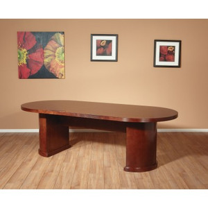 "Kenwood 96"" Racetrack Conference Table by OSP Furniture"