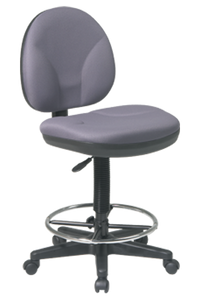 DC550 Sculptured Seat and Back Drafting Chair ·Contour Seat and Back with Built-in Lumbar Support ·One Touch Pneumatic Seat Height Adjustment ·Back Height Adjustment ·Seat Depth Adjustment ·Adjustable Footrest ·Heavy Duty Nylon Base with Dual Wheel Carpet Casters ·GREENGUARD Indoor Air Quality Certified®