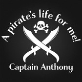 PIRATE'S LIFE FOR ME custom name personalised vinyl wall sticker skull swords