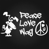 Graffiti Dog Peace Love Wag