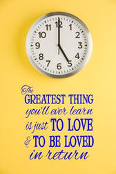 LOVE & BE LOVED vinyl wall sticker saying words home family decor inspirational