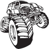 MONSTER TRUCK vinyl wall art sticker decal boy bedroom vehicle action decor #71