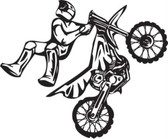 Motocross motorcycle stunt dirt bike freestyle action vinyl wall art sticker 98