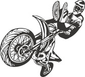 Motocross motorcycle stunt action vinyl wall sticker bedroom garage man cave #24