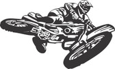 Motocross motorcycle stunt action vinyl wall sticker bedroom garage man cave #10
