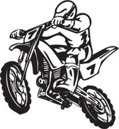 Motocross motorcycle dirt bike freestyle action stunt vinyl wall sticker decal #97