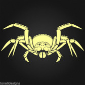 Spider wall art sticker decal for vehicle motorbike window mirror man cave 020
