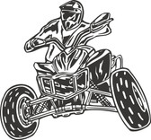 ATV action stunt vinyl wall art sticker decal boy bedroom garage man cave #005