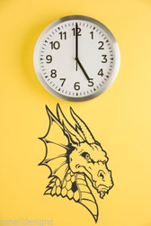 DRAGON vinyl wall art sticker fantasy decal for home door vehicle device deco