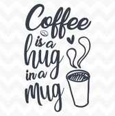 Coffee is a Hug in a Mug vinyl wall sticker home words saying kitchen cafe bar
