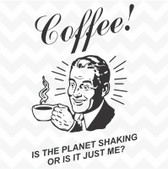 Coffee Retro Man vinyl wall art sticker words kitchen cafe dining home DIY deco