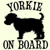 YORKIE ON BOARD dog pet breed vinyl sticker for car window bumper