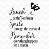 Laugh Smile Remember vinyl wall art sticker words saying home classroom inspire