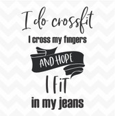 I Do Crossfit vinyl wall art sticker words saying home inspire humour