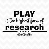 Play Highest Form of Research Einstein vinyl wall art sticker quote inspire DIY