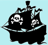 Pirate ship vinyl sticker