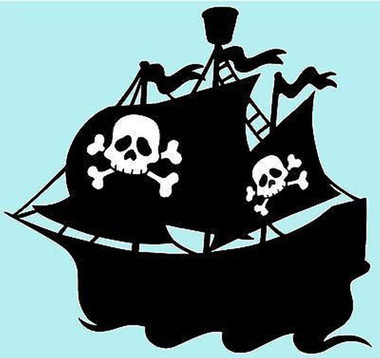 Pirate ship vinyl sticker