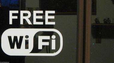 Free Wifi White sticker