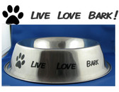 LIVE LOVE BARK fun dog theme vinyl sticker