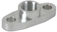 "Aluminum Oil Flange for GT32-GT55R (Tapped - 1/2"" NPT)"