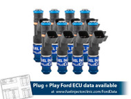 445cc (42 lbs/hr at 43.5 PSI fuel pressure) FIC Fuel Injector Clinic Injector Set for Mustang GT (2005-2016 )/GT350 (2015-2016)/ Boss 302 (2012-2013)/Cobra (1999-2004) (High-Z)