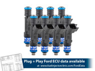 525cc (50 lbs/hr at 43.5 PSI fuel pressure) FIC FuelFuel Injector Clinic Injector Set for Mustang GT (2005-2016 )/GT350 (2015-2016)/ Boss 302 (2012-2013)/Cobra (1999-2004) (High-Z)