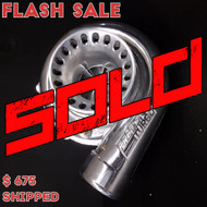**SOLD** Precision 5557 CEA T3 .63 A/R 4-Bolt Outlet **Polished Compressor Housing**