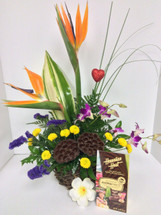 Hawaiian Tropical Valentine Arrangement
