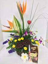 Hawaiian Tropical Valentine Arrangement