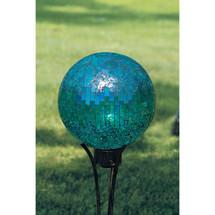 Mosaic Glass Garden Blue Mosaic Gazing Ball