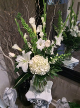 All White Fresh Cut Arrangement