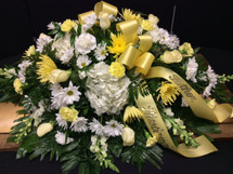1/2 Couch Casket Spray With Mixed Flowers