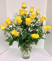 Two Dozen Yellow Roses Arranged