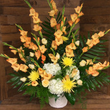 Gladiola and Hydrangea Traditional Basket