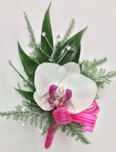 Phalaenopsis orchid boutonnière