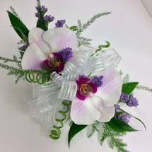2 bloom phalaenopsis orchid wrist corsage