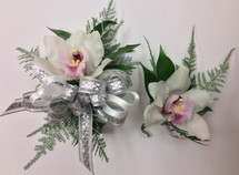 Cymbidium orchid corsage and boutonnière