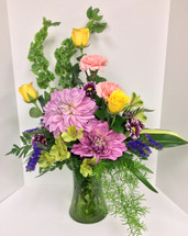 Dahlia Daydreams Mixed Vase