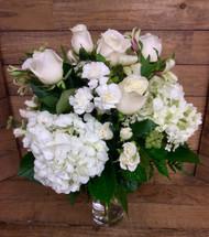Creamy White Garden Vase