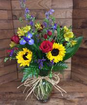 """""""Field of vivid wildflowers"""" Large Vase Arrangement"""