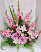 Pink and Lavender Lily Garden Arrangement