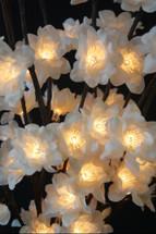 Lighted White Plum Nouveau Branch