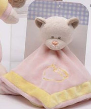 "12"" Bear Plush and Blanket Rattle"