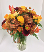 """Autumn is golden"" vase"