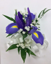 Fresh Iris corsage
