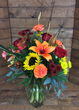 Autumn treasure mixed vase
