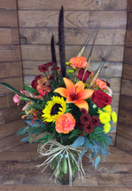 Fall Sophistication Vase Arrangement