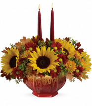 Teleflora's Thanksgiving Garden Centerpiece